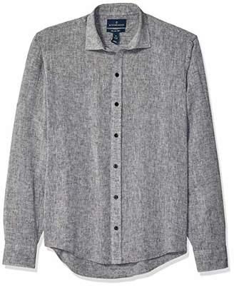 Buttoned Down Men's Slim Fit Casual Linen Cotton Shirt