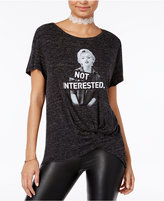 Hybrid Juniors' Marilyn Monroe Knot-Front Graphic T-Shirt