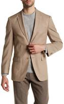 Tommy Hilfiger Khaki Hopsack Two Button Notch Lapel Jacket