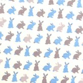 SheetWorld Fitted Pack N Play Sheet - Boys Bunny Rabbits - Made In USA - 29.5 inches x 42 inches (74.9 cm x 106.7 cm)