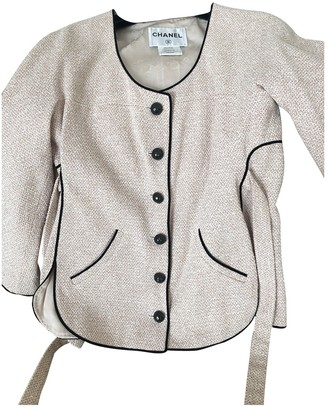 Chanel Pink Cotton Jacket for Women