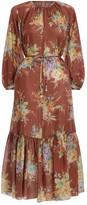 Zimmermann Zinnia Long Sleeve Maxi Dress