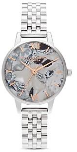 Olivia Burton Abstract Florals Link Bracelet Watch, 30mm