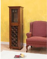 Elegant Home Fashions Napoleon IV 16-Bottles Wine Cabinet in Mahogany with Glass Storage