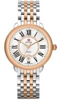 Michele Serein 16 Diamond, Mother-Of-Pearl, 18K Rose Goldplated & Stainless Steel Bracelet Watch