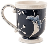 Fitz & Floyd Stoneware Bristol Indigo Floral Mug