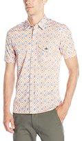 Vivienne Westwood Men's Short Sleeve Printed Stretch Poplin Street Shirt