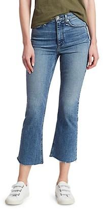 Rag & Bone Nina High-Rise Ankle Flare Jeans