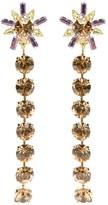 Christian Lacroix Vintage glamour flower earrings