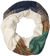 D&Y Women's Marled Boucle Supersoft Single Loop Scarf with Faux Fur