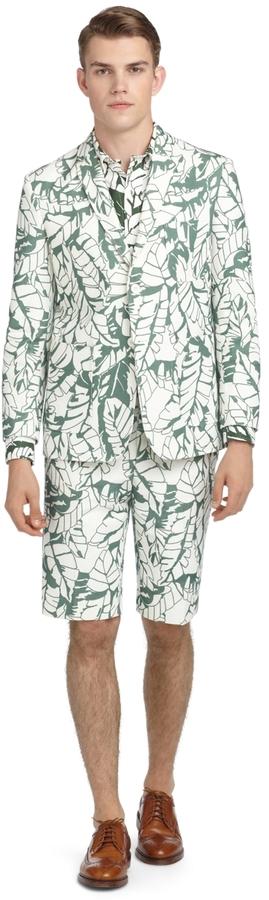 Brooks Brothers Banana Leaf Bermuda Shorts
