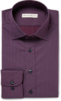 Etro - Purple Slim-fit Patterned Cotton-poplin Shirt