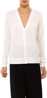 Theory V Neck Ribbed Knitted Cardigan