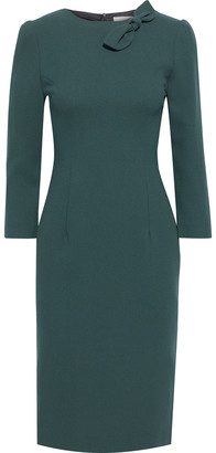 Goat Jenna Bow-embellished Wool-crepe Dress