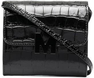 MSGM Crocodile-Effect Crossbody Bag