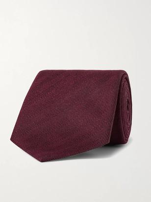 Ermenegildo Zegna 8cm Herringbone Silk Tie