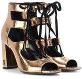 Saint Laurent Metallic leather sandals