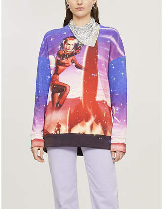 Pinko Photograph space-print cotton-jersey sweatshirt