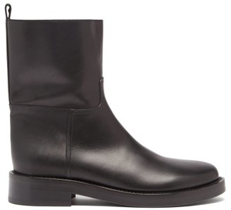 Ann Demeulemeester Panelled Leather Boots - Black