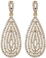 Natasha Accessories Crystal Pave Drop Earrings