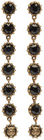 Gucci Black Crystal Earrings
