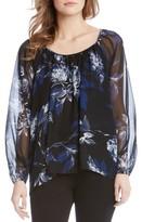 Karen Kane Women's Floral Print Blouson Top
