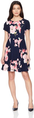 Jessica Howard JessicaHoward Women's Petite Fit and Flare Dress with Seamed Bodice