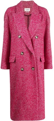 Etoile Isabel Marant Faby herringbone double-breasted coat