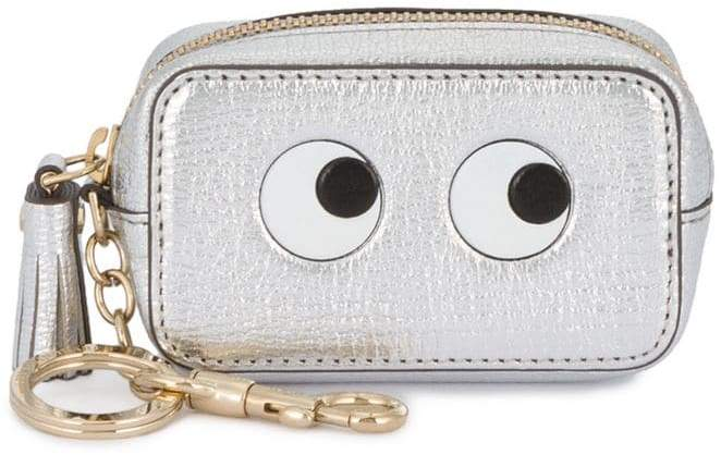 Anya Hindmarch Silver Leather eyes coin purse