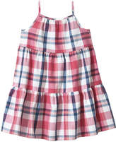 Joe Fresh Toddler Girls' Plaid Tiered Dress, Pink (Size 4)