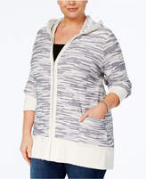 Style and Co Plus Size Space-Dyed Hoodie, Created for Macy's
