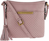 Tignanello Pebble Leather Embossed Weave RFID Crossbody Bag