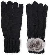 c-lective Real Fur Pom-Pom Gloves