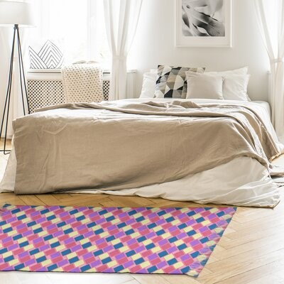 East Urban Home Mcguigan Square Maze Pink Area Rug Non Skid Pad Included Yes Shopstyle