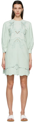 See by Chloe Blue Embroidered Dress