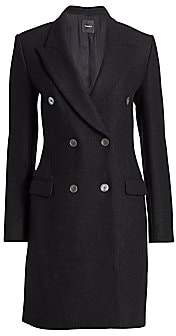 Theory Women's Tailored Wool Double-Breasted Coat