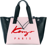 Kenzo large Signature tote - women - Leather/Nylon - One Size