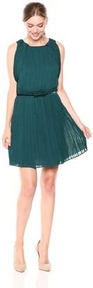 Adelyn Rae Women's Mandy Woven Pleated Dress