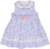 Florence Eiseman Sleeveless Pleated Floral Pique Dress, Blue, Size 2T-4T