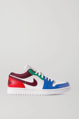 Nike Air Jordan 1 Low Leather And Mesh Sneakers - White
