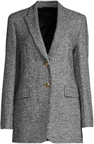 Escada Beek Houndstooth Wool-Blend Jacket