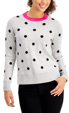 Charter Club Polka-Dot Sweater, Created for Macy's