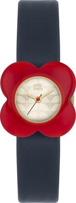 Orla Kiely Women's Analogue Quartz Watch with Leather Strap OK2062