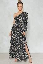 Nasty Gal nastygal One Sleeve Floral Maxi Dress