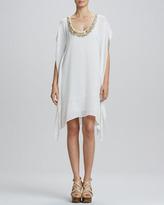 Rachel Roy Beaded-Neck Caftan Dress