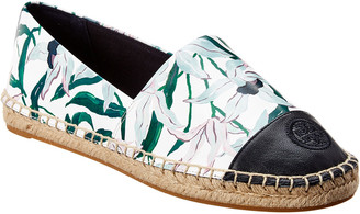 Tory Burch Colorblocked Leather Espadrille
