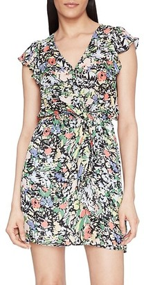 Parker Floral Ruffle Silk-Blend Dress