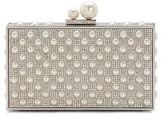 Sophia Webster Clara Crystal & Faux-Pearl Box Clutch