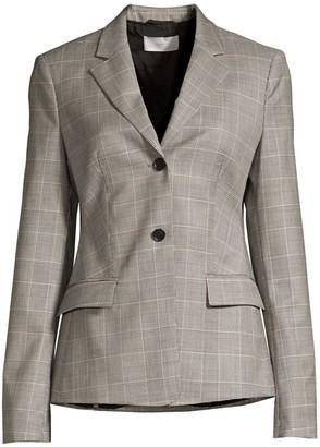 BOSS Jatinda3 Natural Wool Stretch Check Jacket