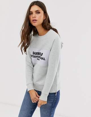 Barbour International flocked logo sweater-Grey